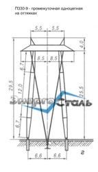 Металлические стальные опоры ЛЭП,  порталы,  тросостойки...