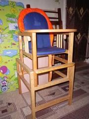 Продам кроватку,  стул-стол,  новый матрас!